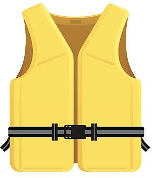 Gilet jaune de sauvetage